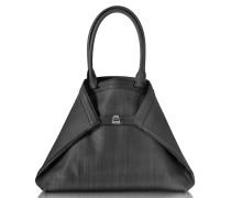 Ai Medium Shopper aus Leder und Pferdehaar in schwarz