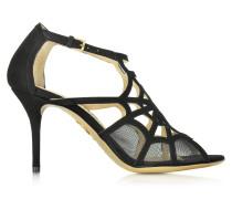 Lotte Sandale aus Wildleder in schwarz