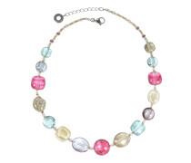 Florinda Halskette mit durchsichtigen Muranoglasperlen