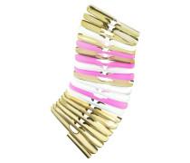 Armband aus vergoldetem Metall in gold weiß und pink