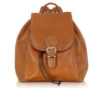 Camel Rucksack aus italienischem Leder