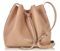 Pur & Element Saffiano Calf-Leather Bucket Bag