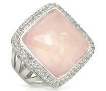 Victoria - Ring aus 18k Gold mit rosa Quartz