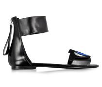 Oh Roy Gladiator Sandale aus schwarzem Leder