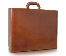 Handgearbeitete Aktentasche für Herren aus braunem Leder