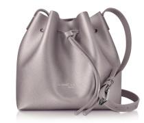 Pur & Element Rose Gold Saffiano Leather Mini Bucket Bag