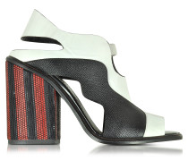 Color Block High Heel Sandal