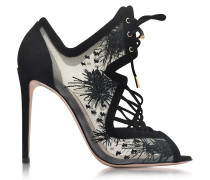 Phoenix Black Embroidered Sandal