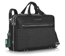 Link - Vergrösserbare Laptoptasche mit zwei Henkeln