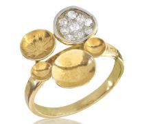 18k Ring aus Gelbgold mit Diamanten