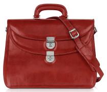 Rote Damen-Aktentasche aus Leder