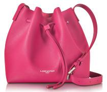 Pur & Element Fuchsia Saffiano Leather Bucket Bag
