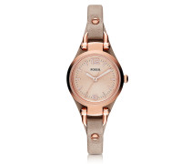 Georgia Mini Three Hand Sand Leather Women's Watch