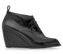 Orso Wedge Bootie aus Wildleder in schwarz
