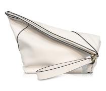 Origami Ultra Wristlet Handtasche aus Leder in weiß