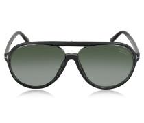SERGIO FT0379 50K Sonnenbrille im Pilotenstyle in braun