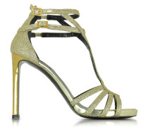 Gold Glitter-Sandaletten