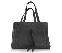 Maverick Black Leather Tote Bag