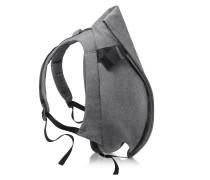 Isar Eco Yarn Medium Rucksack in schwarz-grau