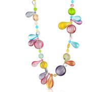 Lapilli - Lange Halskette mit Muranoglasanhängern