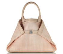 Ai Small Shopper aus Leder und Haar in rosa