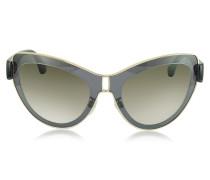 BA0001 01F Cat Eye-Sonnenbrille aus Acetat und Metall in grau & gold