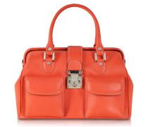 Arzttasche aus Leder in orange