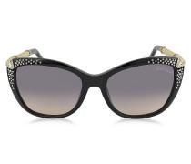 TALITHA 978S Cat Eye Sonnenbrille aus Acetat mit Kristallen