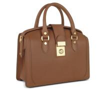 Handtasche im Doktorstyle aus italienischem Leder in braun