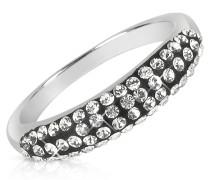 Ring mit Swarovskisteinen in schwarz