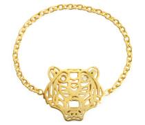 Mini Tiger Ring in goldfarben