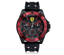 XX Kers Black and Red Stainless Steel Men's Watch