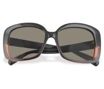 Sonnenbrille in schwarz und rot