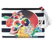 Marine Floral Tasche aus Canvas