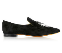 Black Loafer aus Wildleder