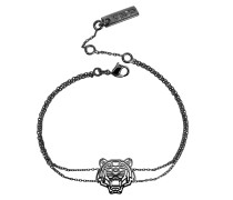 Ruthenium Armband mit Cut Out Tiger aus vergoldetem Sterlingsilber