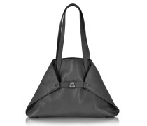 Ai Small Shopper aus Leder in schwarz