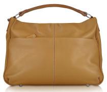 Hobo-Tasche aus genarbtem Leder