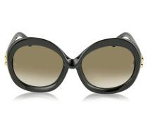 BA0007 01F Damen-Sonnenbrille aus Acetat in schwarz