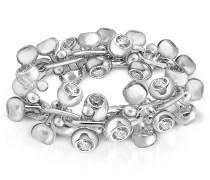 Breiter Ring aus 18k Weissgold mit Diamanten besetzt