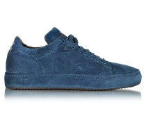 Low Top Herren Sneaker aus Wildleder in blau