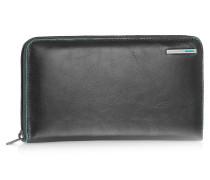 Blue Square - Brieftasche mit Rundum-Reißverschluss aus Leder