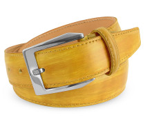 Herrengürtel aus italienischem Leder von Hand gefärbt
