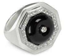 Clementina - Ring aus Sterlingsilber mit schwarzem Achat