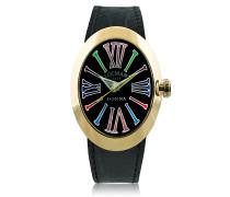 Change Damenuhr aus vergoldetem Edelstahl mit Armbändern aus Leder