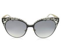 ESTELLE/S ENYLF Cat Eye Sonnenbrille aus schwarzem Metall