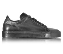 Herren Sneaker aus Leder in anthrazit