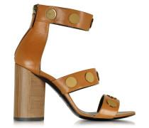 Penny Camel Leather High Heel Sandal