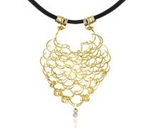 Scintille - Halskette aus 18k Gelbgold mit Diamant