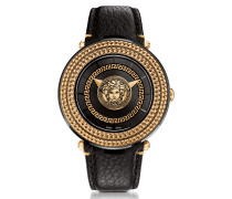 V-Metal Icon Black and Rose Gold Unisex Watch w/Medusa Medal